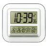 Radio Controlled LCD Wall Clock with indoor temperature and humidity displays