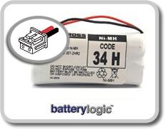 34H cordless phone battery