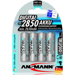 Ansmann 2850mAh AA (4 pack) - NiMH rechargeable batteries