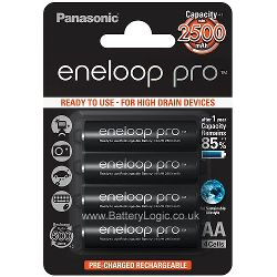 Panasonic eneloop PRO 5G AA (4 Pack) - NiMH rechargeable batteries